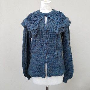 Vintage shawl collar sweater